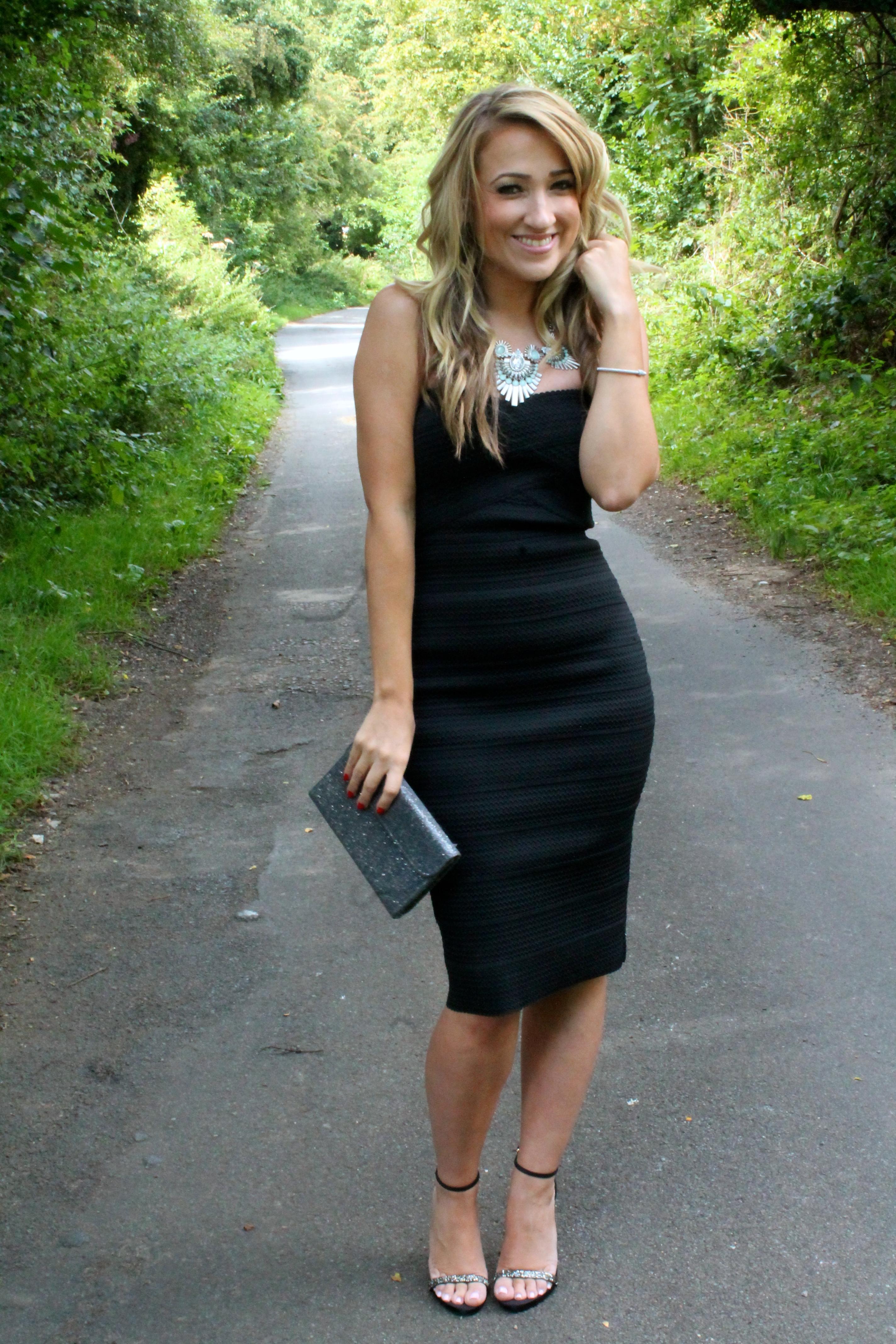 Black Dress Silver Heels